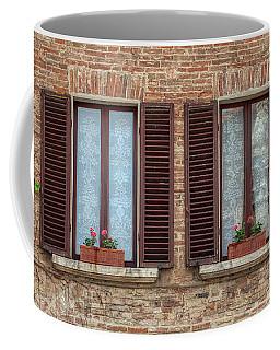 Window Flowers Of Tuscany Coffee Mug
