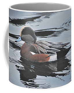 Coffee Mug featuring the painting Wigeon Drake by Peter Mathios