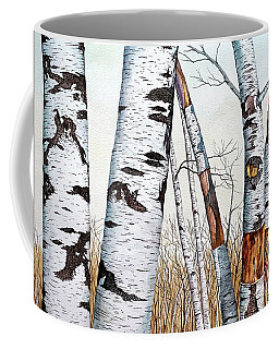 Wild Birch Trees In The Forest In Watercolor Coffee Mug