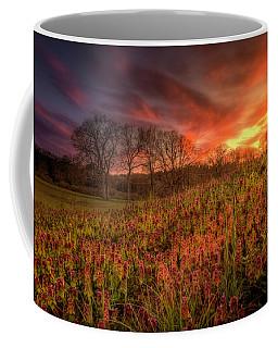 Wildflowers And Wildfire Sky Coffee Mug