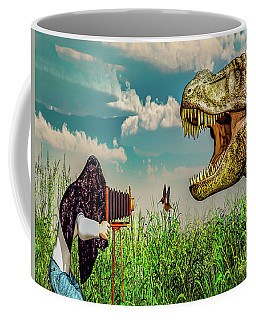 Coffee Mug featuring the digital art Wildlife Photographer  by Bob Orsillo