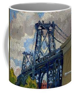 Williamsburg Bridge Nyc Cloudy Coffee Mug