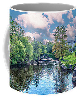 Willimantic River With Clouds Coffee Mug
