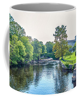 Coffee Mug featuring the photograph Willlimantic River Overcast Sky by Michael Hughes