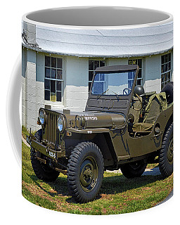 Coffee Mug featuring the photograph Willys Army Jeep 20899516 At Fort Miles by Bill Swartwout Fine Art Photography