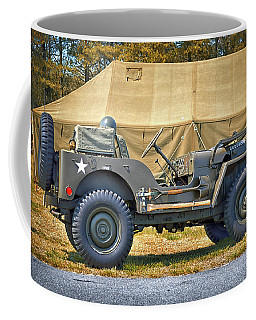Coffee Mug featuring the photograph Willys Jeep U S A 20899516 At Fort Miles by Bill Swartwout Fine Art Photography