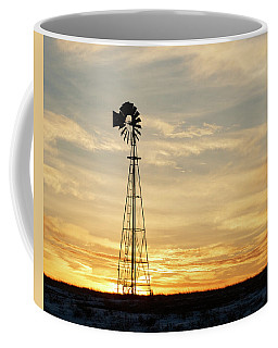 Coffee Mug featuring the photograph Windmill At Sunset 02 by Rob Graham