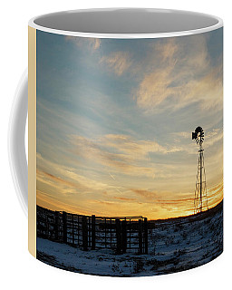 Coffee Mug featuring the photograph Windmill At Sunset 04 by Rob Graham