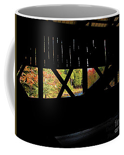Coffee Mug featuring the photograph Window To Fall by Debbie Stahre