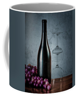 Wine Bottle And Two Glasses Coffee Mug