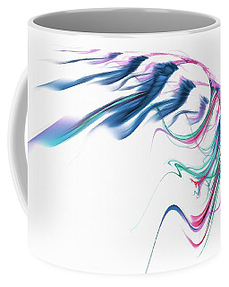 Wing Of Beauty Art Abstract Blue Coffee Mug