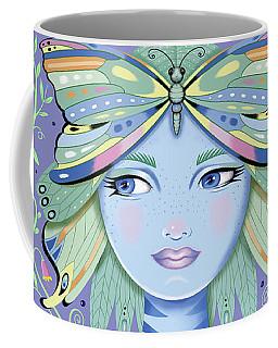Insect Girl, Winga - Purple Coffee Mug
