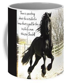 Winston Churchill Horse Quote Coffee Mug
