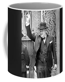 Winston Churchill Showing The V Sign Coffee Mug