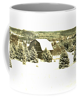 Coffee Mug featuring the photograph Winter Barn by SimplyCMB