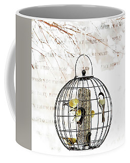 Winter Bird Feeder  Coffee Mug