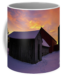 Winter Farm Chores Coffee Mug