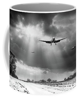 Coffee Mug featuring the photograph Winter Homecoming Bw Version by Gary Eason