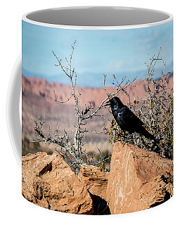 Coffee Mug featuring the photograph Black Raven by David Morefield