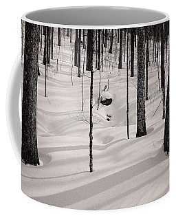 Winter Light In The Forest Coffee Mug