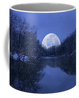 Winter Night On The Pond Coffee Mug