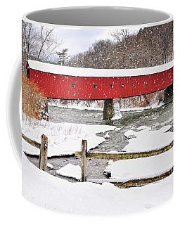 Winter Scene-west Cornwall Covered Bridge Coffee Mug