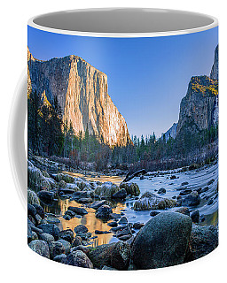 Winter Sunrise At Valley View Coffee Mug