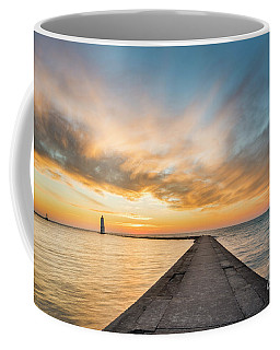 Winter Sunset Over Frankfort Pier Coffee Mug