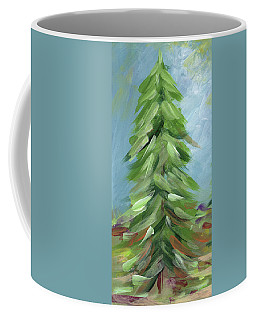 Coffee Mug featuring the painting Winter Tree- Expressionist Art By Linda Woods by Linda Woods