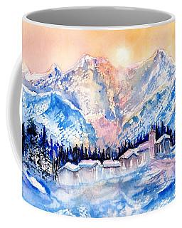 Winters Magic Light In The Swiss Alps Coffee Mug