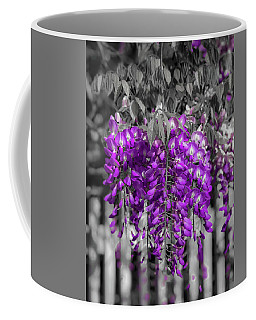 Coffee Mug featuring the photograph Wisteria Falling by Lora J Wilson