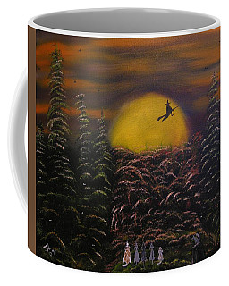 Coffee Mug featuring the painting Witch At Night by Jim Lesher