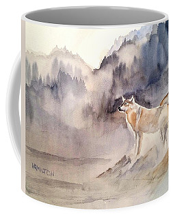 Wolves On Guard Coffee Mug