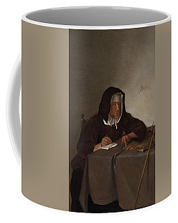 Woman Counting Coins Coffee Mug