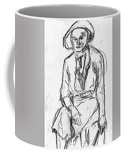 Woman In A Hat Drawing Coffee Mug