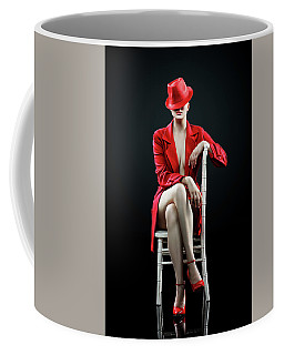Woman In Red Coffee Mug
