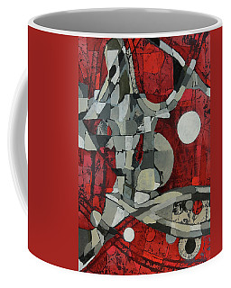 Coffee Mug featuring the painting Woman Man Woman by Mark Jordan