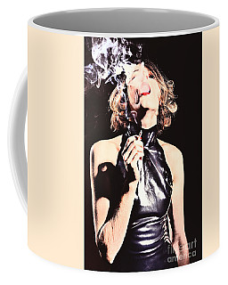 Woman Smoking A Cigarette Coffee Mug
