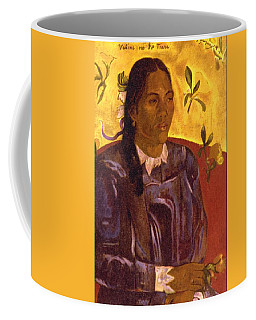 Woman With Gardenia Coffee Mug