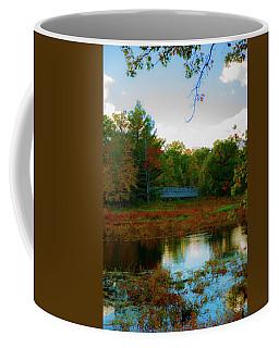 Wood Bridge In The Fall Coffee Mug