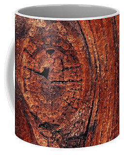 Coffee Mug featuring the digital art Wood Knot by ISAW Company