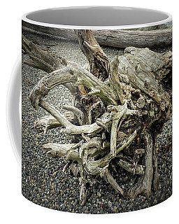 Coffee Mug featuring the photograph Wood Log In Nature No.34 by Juan Contreras