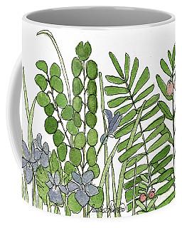Woodland Ferns Violets Nature Illustration Coffee Mug