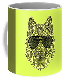 Woolf In Black Glasses Coffee Mug