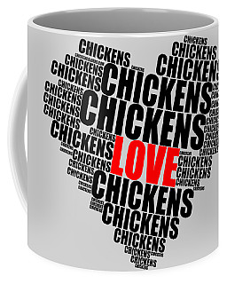 Wordcloud Love Chickens Black Coffee Mug
