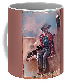 Coffee Mug featuring the painting Work  In Progress by Jan Dappen