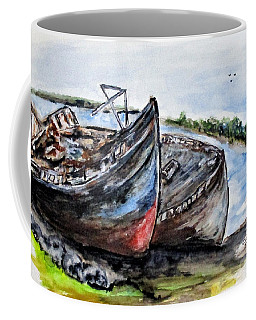 Wrecked River Boats Coffee Mug