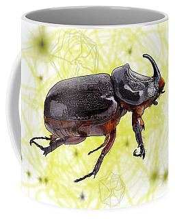 X Is For Xylotrupes Ulysses  Aka Rhinoceros Beetle Coffee Mug