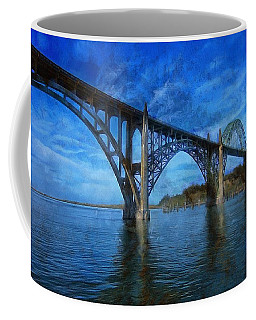 Yaquina Bay Bridge From South Beach Coffee Mug
