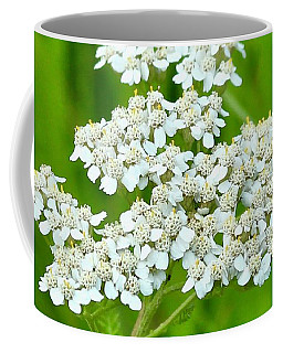 Coffee Mug featuring the photograph Yarrow And Friend by Ann E Robson